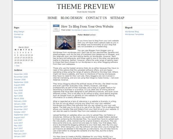 WordPress-temat Blue Zinfandel