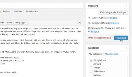 WordPress och pingtjänster