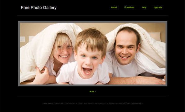 ShutterThemes Free Photo Gallery Theme