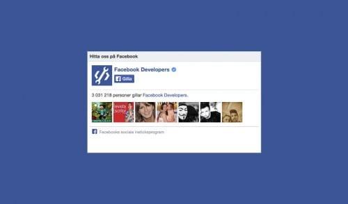 Lägg till en gilla-box för Facebook på din blogg