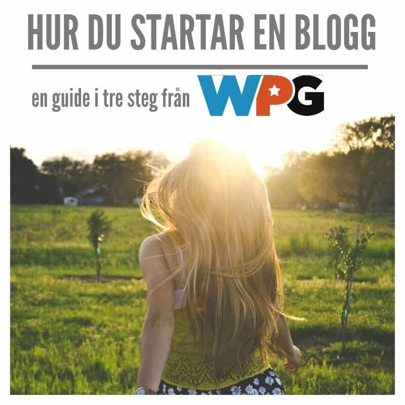 starta din wordpress blogg