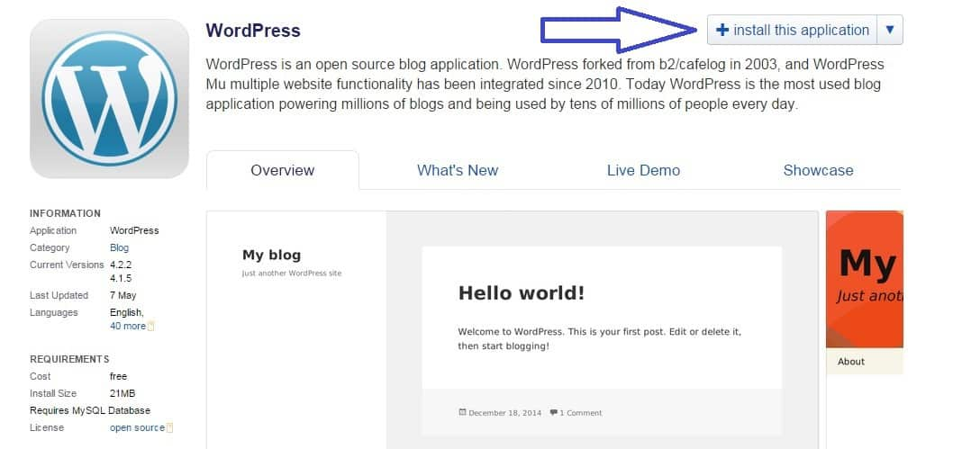 starta wordpress