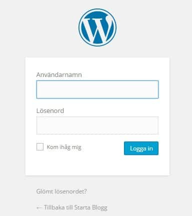 starta wordpress blogg
