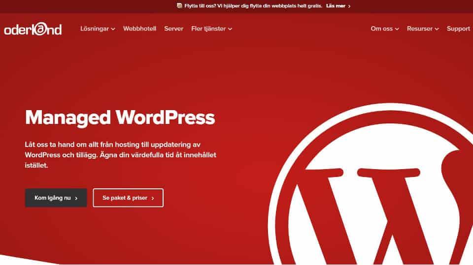 Oderland managed WordPress hosting